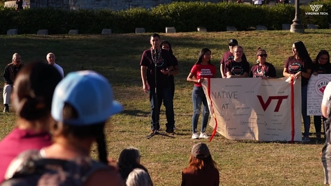Thumbnail for entry Virginia Tech celebrates Indigenous Peoples Day