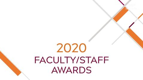 Thumbnail for entry 2020 faculty and staff members recognized for achievements
