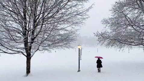Thumbnail for entry Blacksburg campus becomes a winter wonderland