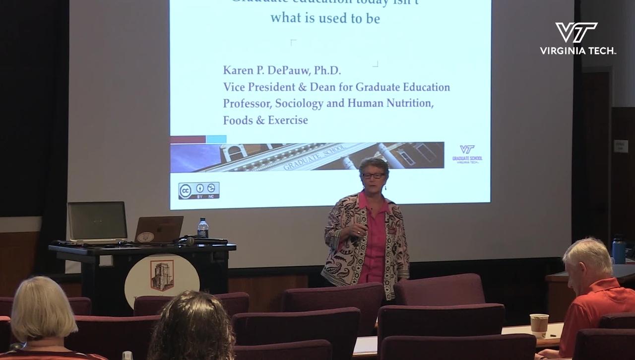 HokieTalks: 3 I's = T: 21st century graduate education isn't what it used to be