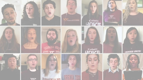 Thumbnail for entry Virginia Tech Chamber Singers gather virtually to sing National Anthem