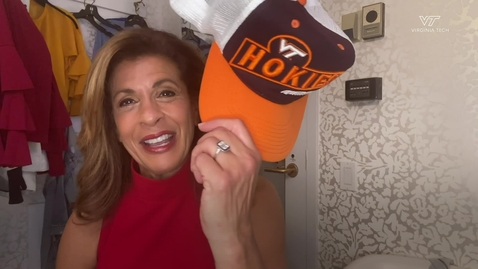 Thumbnail for entry Virginia Tech alumna Hoda Kotb delivers surprise message to Class of 2020