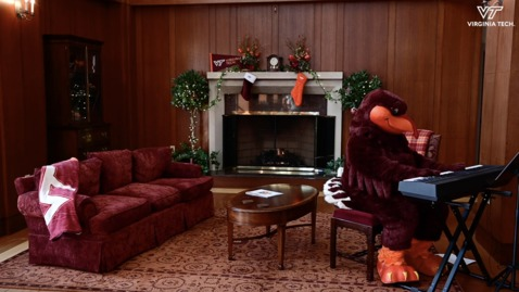 Thumbnail for entry Virginia Tech fireside holiday experience