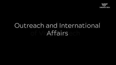 Thumbnail for entry Outreach and International Affairs