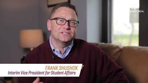 Thumbnail for entry Message from Interim Vice President Frank Shushok