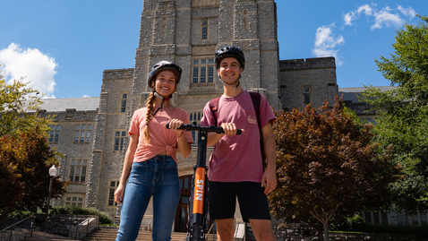 Thumbnail for entry Virginia Tech rolls out electric scooters for pilot research