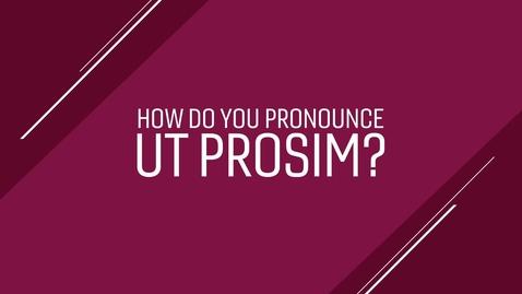 "Thumbnail for entry How Do You Pronounce ""Ut Prosim?"""