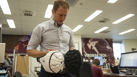 Thumbnail for entry Virginia Tech Helmet Lab director on flag football helmet ratings