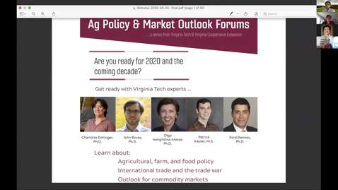 Thumbnail for entry Ag Policy & Market Outlook Forum (April 2, 2020)