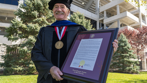 Thumbnail for entry Alumnus Mike Quillen awarded Virginia Tech's highest honor