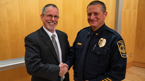 Thumbnail for entry Mac Babb named Virginia Tech Police Chief