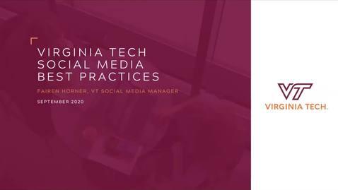 Thumbnail for entry 2020 VT Social Media Best Practices