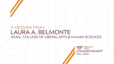 Thumbnail for entry Commencement Message from Dean Laura Belmonte