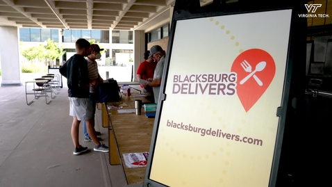 """Thumbnail for entry """"Blacksburg Delivers"""" brings local dining options to campus"""