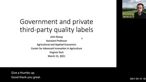 Thumbnail for entry Government and private third-party quality labels