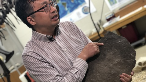 Thumbnail for entry Geosciences professor discovers 550 million-year-old fossil