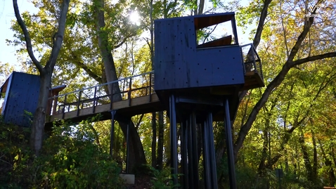 Thumbnail for entry Architecture students design, build New River Train Observatory