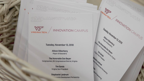 Thumbnail for entry Virginia Tech, City of Alexandria members react to Innovation Campus and Amazon