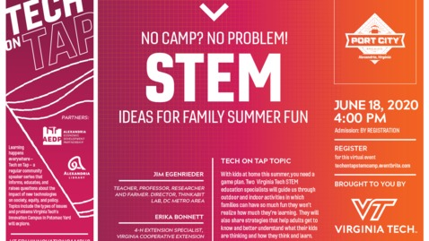 Thumbnail for entry Tech on Tap: No Camp? No Problem! STEM ideas for family summer fun