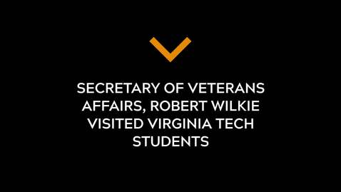 Thumbnail for entry Secretary Of Veterans Affairs visits VT