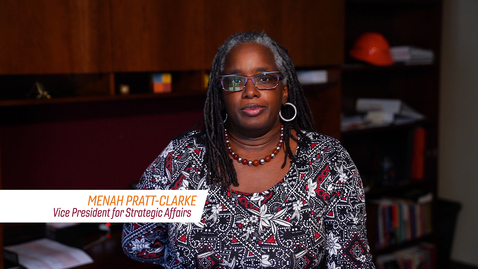 Thumbnail for entry A Message from Vice President of Strategic Affairs Menah Pratt-Clarke