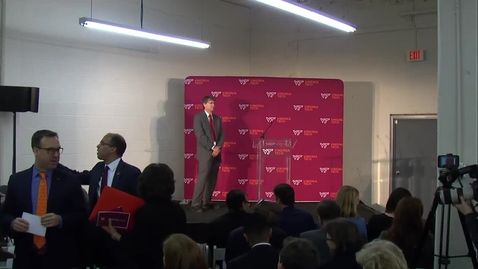 Thumbnail for entry Virginia Tech Innovation Campus Announcement