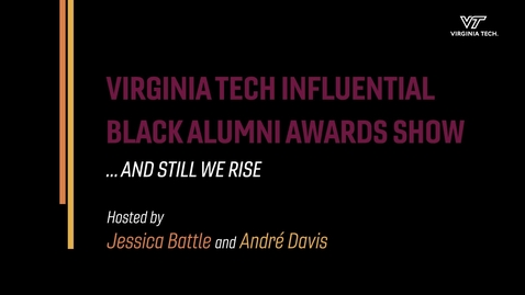 Thumbnail for entry 2021 Influential Black Alumni Awards Ceremony