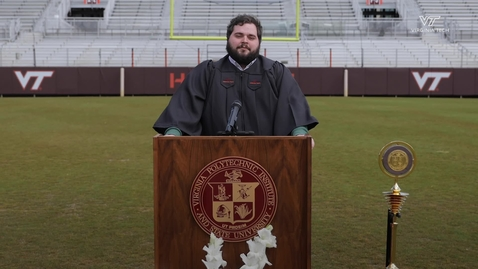 Thumbnail for entry Class of 2020 Graduate performs Alma Mater during online ceremony