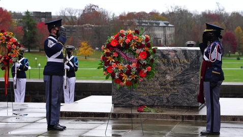 Thumbnail for entry Veterans Day ceremony honors former, current, and future service members