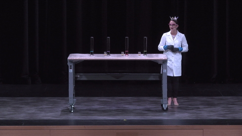 Thumbnail for entry Miss Virginia's demonstration at Virginia Tech Science Festival