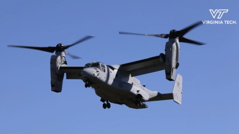 Thumbnail for entry Homecoming game features flyover of four Marine Corps MV-22B Ospreys