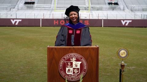 Thumbnail for entry Alumni Association president congratulates Class of 2020