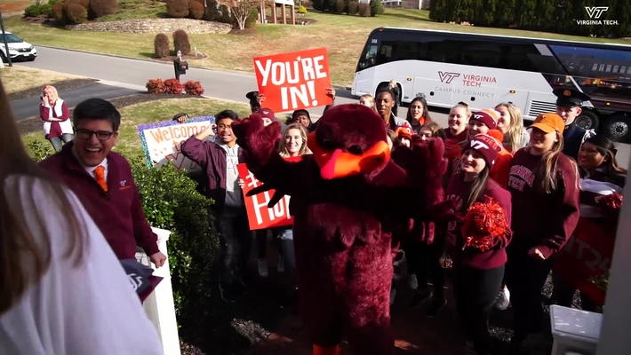 Virginia Tech surprises students with offers of admission