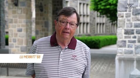 Thumbnail for entry Cornerstone Moment: Alumnus Lu Merritt serves alma mater, helps student athletes
