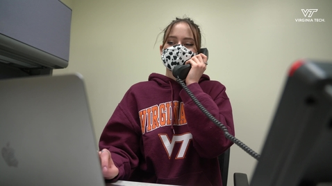 Thumbnail for entry Students answer calls for Virginia Tech's COVID-19 helpline