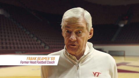 Thumbnail for entry Frank Beamer with a message for Virginia Tech Hokies