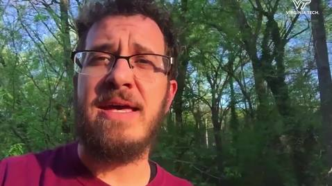 Thumbnail for entry Survivor contestant and VT alumnus with a COVID-19 message for Hokies