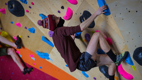 Thumbnail for entry Venture Out opens new bouldering wall