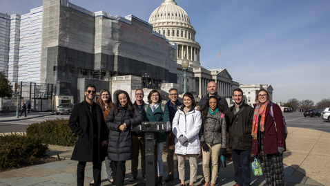 Thumbnail for entry Students embark on Washington Experience, learning in the nation's capital