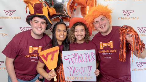 Thumbnail for entry Hokies give back in record numbers during Giving Day 2019