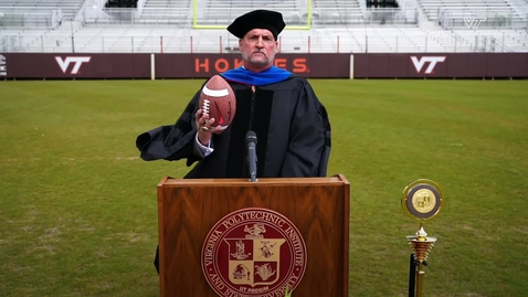 Thumbnail for entry Bud Foster encourages Class of 2020 to 'hold it together'