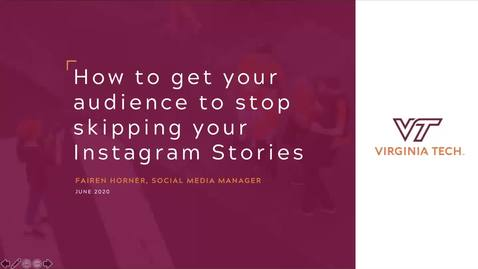 Thumbnail for entry How to get your audience to stop skipping your Instagram Stories
