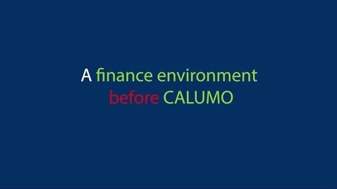 Thumbnail for entry 02. A finance environment before CALUMO