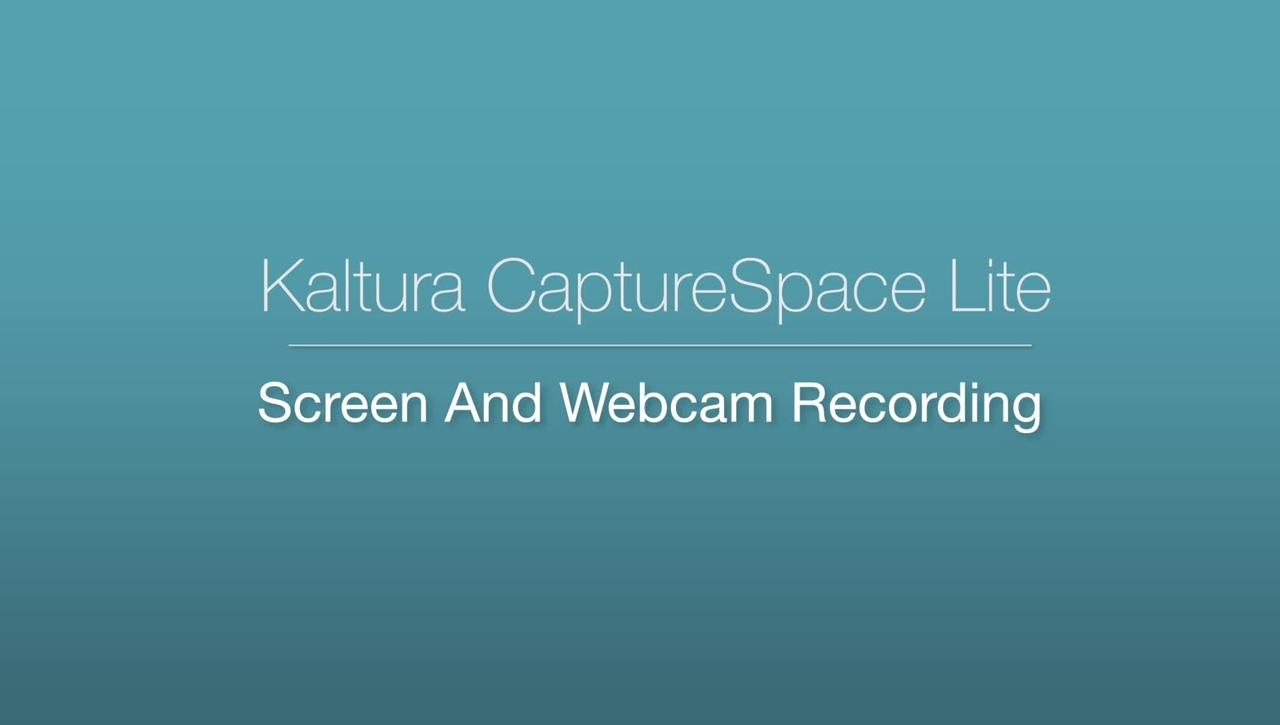 CaptureSpace Lite - Screen and Webcam Recording