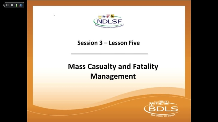 Mass Casualty and Fatality Management