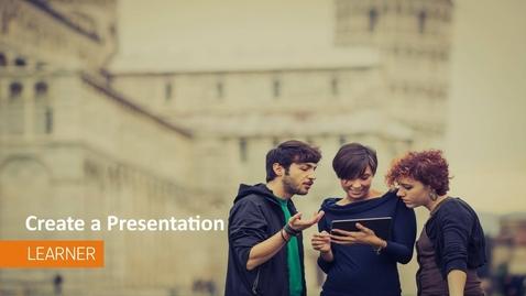 Thumbnail for entry ePortfolio - Create a Presentation - Students