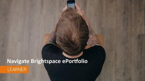 Thumbnail for entry ePortfolio - Navigation - Students