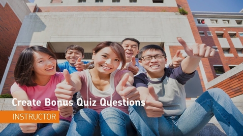 Thumbnail for entry D2L Quizzes - Create Bonus Quiz Questions - Instructor