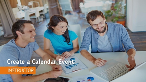 Thumbnail for entry D2L Course Management - Calendar, Create an Event - Instructor