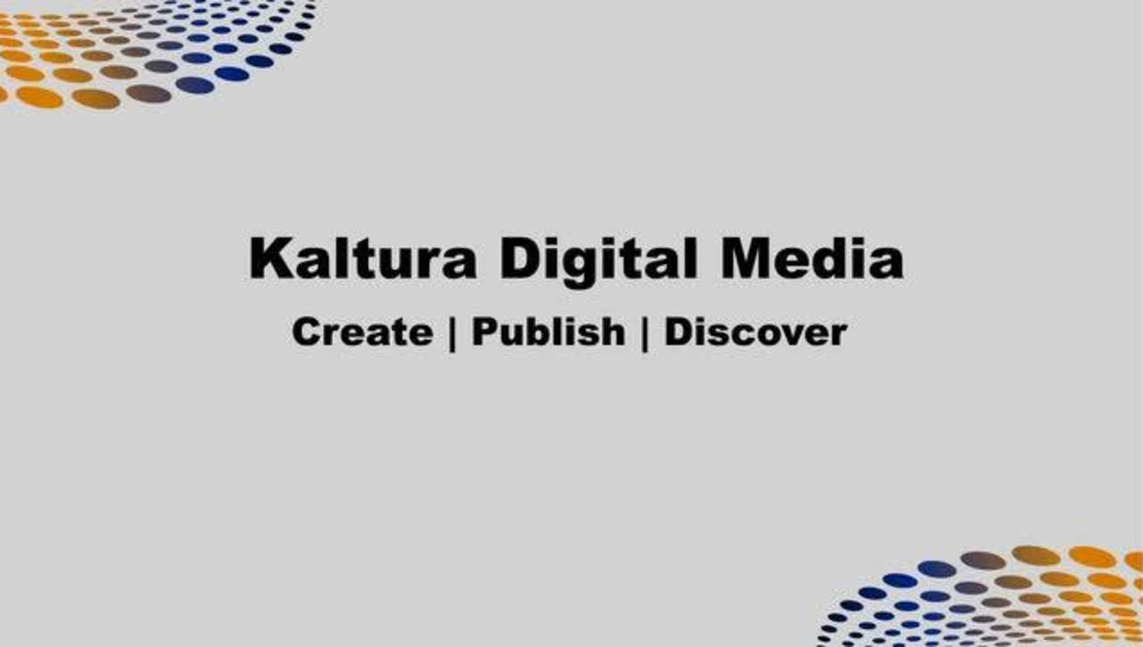 Kaltura - Introduction